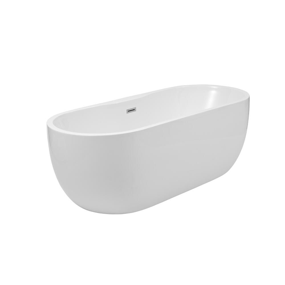 Ba era exenta oval moderna 1800 x 750 x 580mm otterton for Baneras exentas pequenas