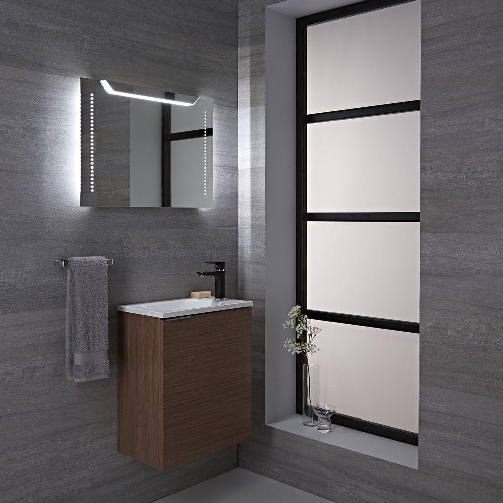Espejo led para cuarto de ba o 500x700mm lomond for Espejo pared completa