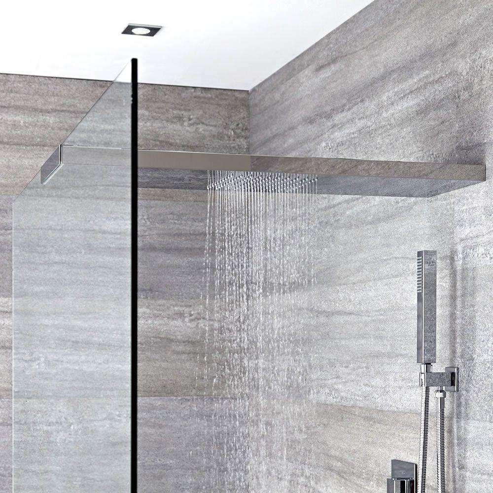 Alcachofa de ducha 1000x250mm con brazo y soporte para for Soporte alcachofa ducha