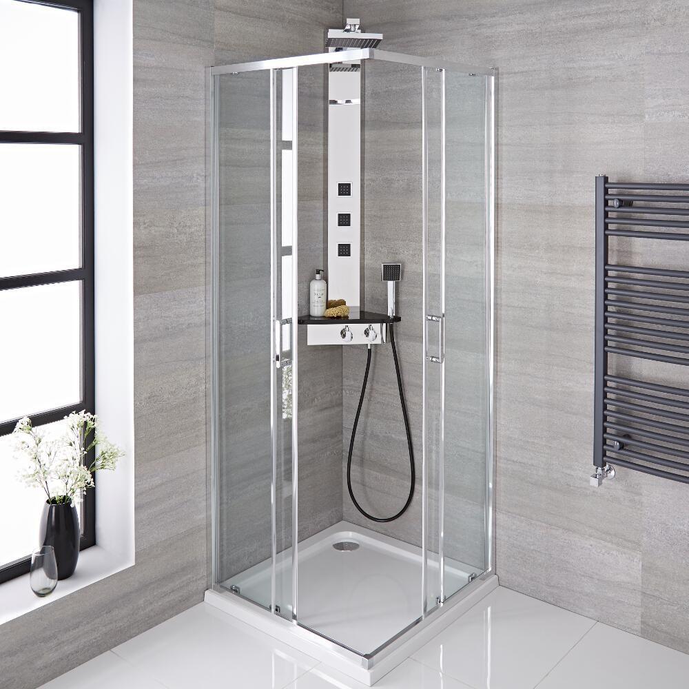 Mampara de ducha angular corredera 900x1950mm porland - Mampara de ducha segunda mano ...