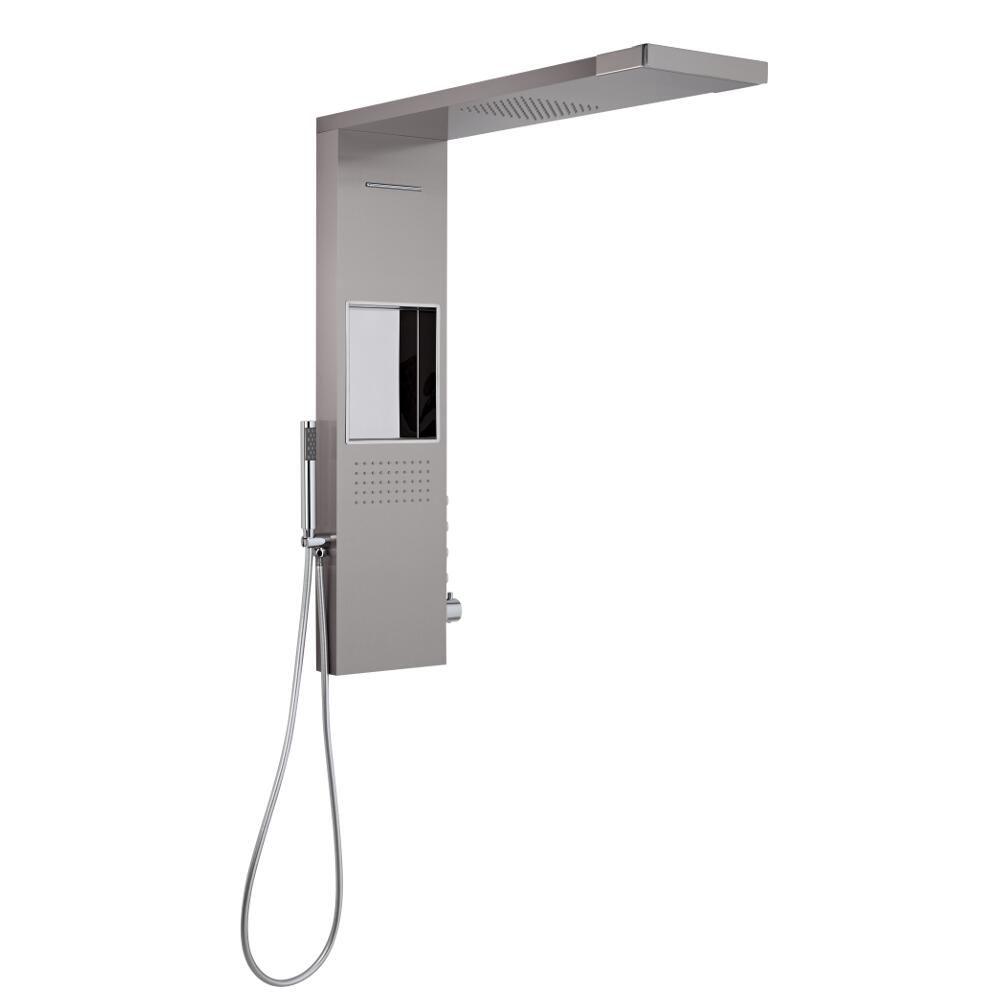 Panel de ducha termost tico de 4 funciones con alcachofa for Soporte alcachofa ducha