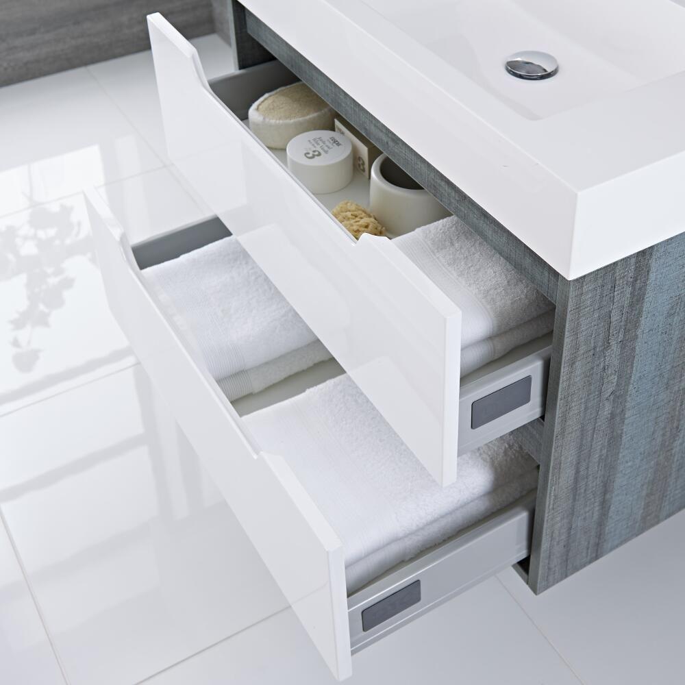 Mueble De Lavabo Con Acabado Color Blanco Lacado 800x500x600mm Con  # Muebles Newport