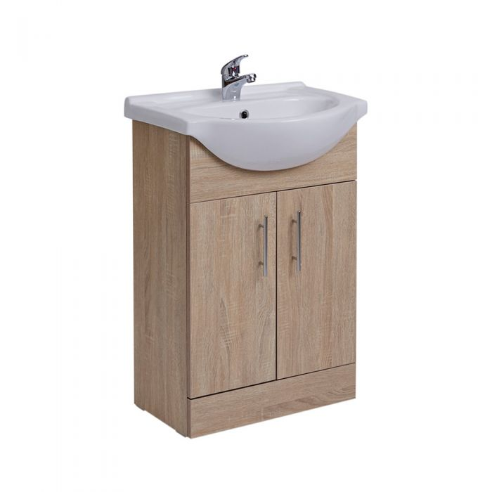 Mueble de Lavabo Efecto Roble 78x55x43cm