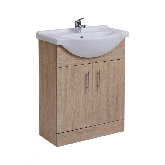 Mueble de Lavabo Efecto Roble  78x65x44cm