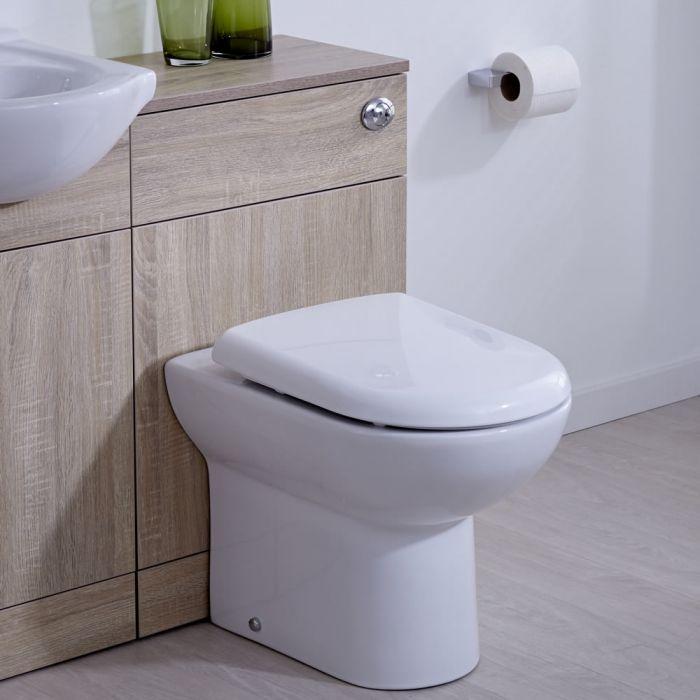 Mueble de Baño Color Roble Completo con Inodoro Integrado 76x50x30cm