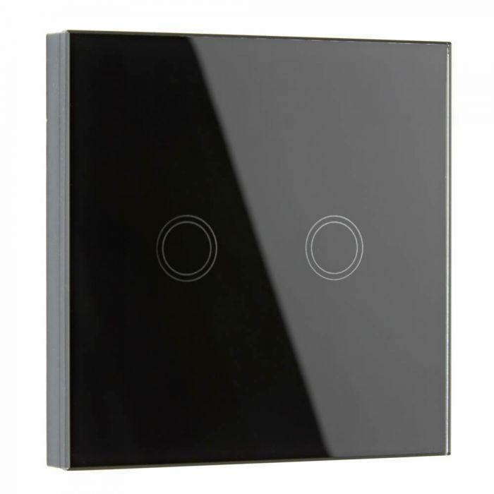 Interruptor de Diseño de Pared Negro Doble