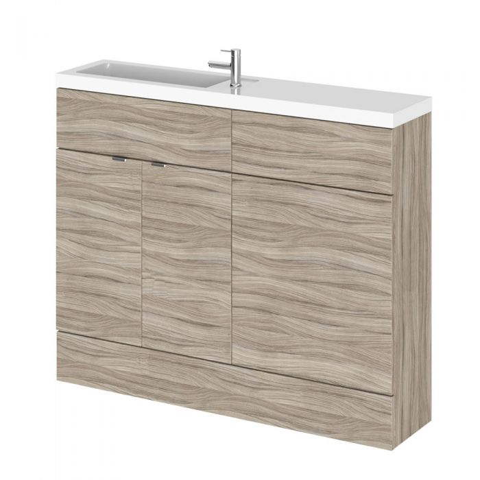Mueble de Lavabo y WC Wengué de 1100mm