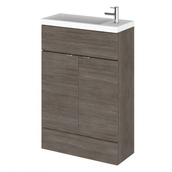 Mueble de Lavabo de 600mm Gris Marrón