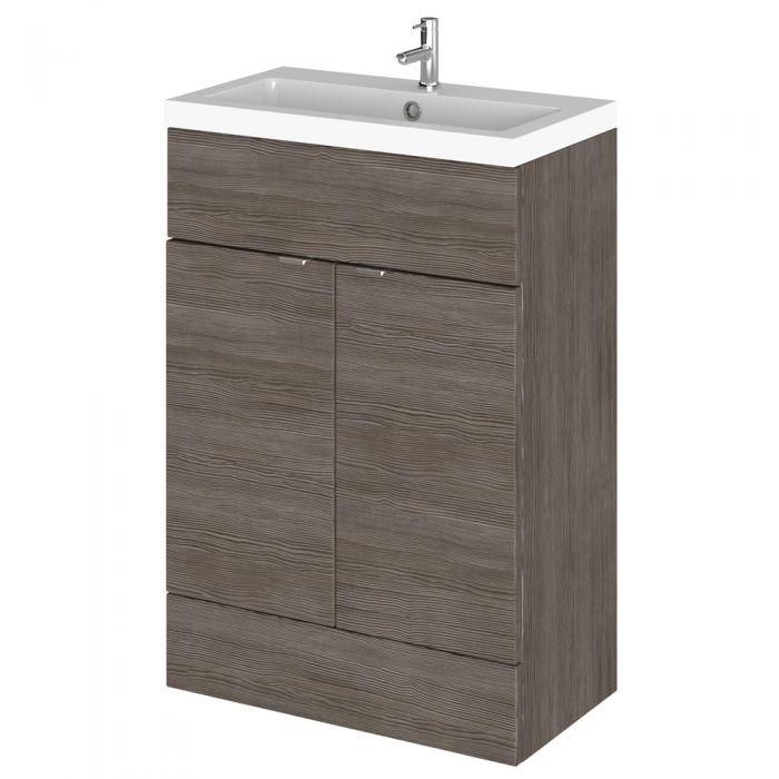 Mueble de Lavabo de 600 x 355mm Gris Marrón