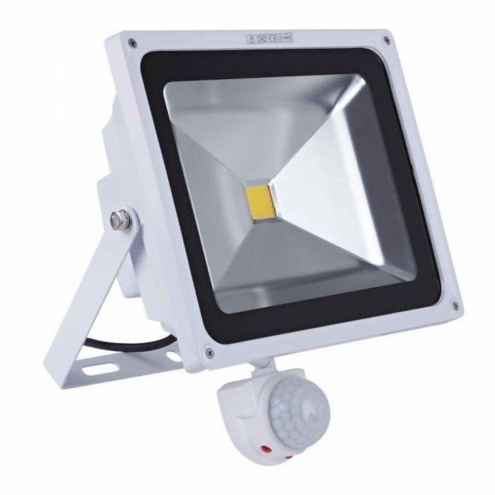Foco Faro Proyector Compacto LED 50W con Sensor de Movimiento