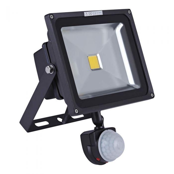 Foco Faro Proyector Compacto LED 30W con Sensor de Movimiento