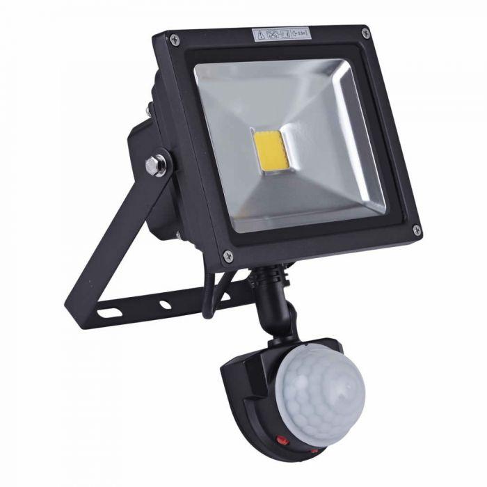 Foco Faro Proyector Compacto LED 20W con Sensor de Movimiento