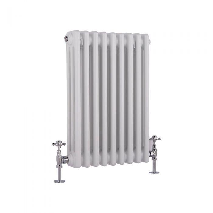 Radiador de Diseño Horizontal Triple Tradicional - Blanco - 600mm x 405mm x 100mm - 721 Vatios - Regent