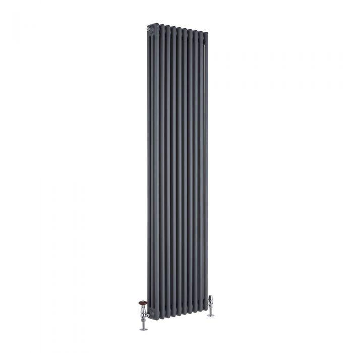 Radiador de Diseño Vertical Triple Tradicional - Antracita - 1800mm x 450mm x 100mm - 2171 Vatios - Regent