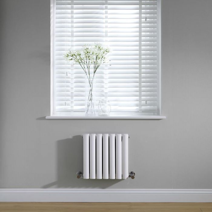 Radiador de Diseño Horizontal Doble - Blanco - 400mm x 415mm x 78mm - 482 Vatios - Revive