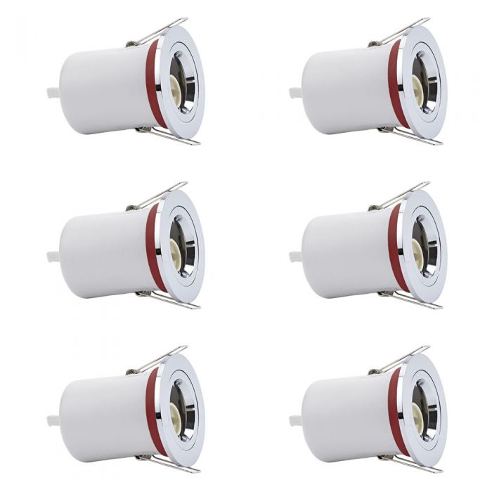 6 Focos Downlight LED de 8W
