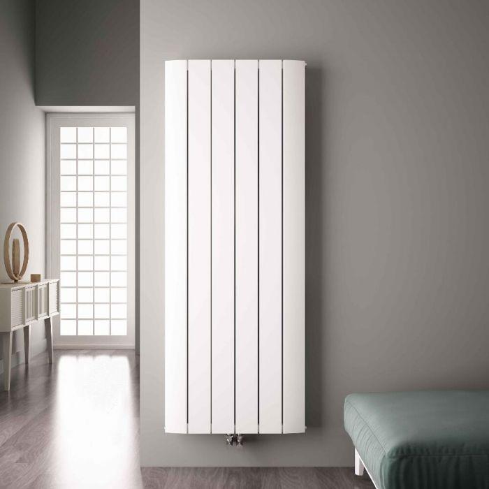 Radiador de Diseño Vertical Con Conexión Central - Aluminio - Blanco - 1800mm x 565mm x 45mm - 2303 Vatios - Aurora