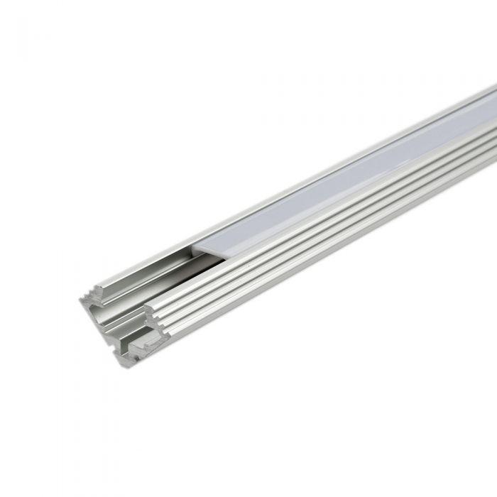5 x Perfiles de Superficie Angulares para Tiras LED 100cm