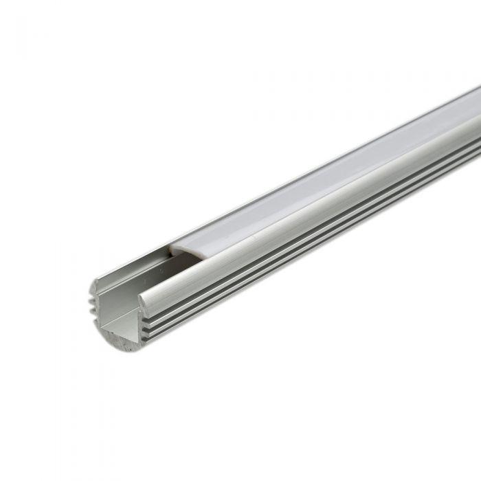 5 x Perfiles de Superficie en Aluminio Circulares para Tiras LED 100cm