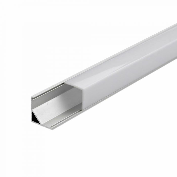 5 x Perfies de Superficie en Aluminio Blanco para Tiras LED