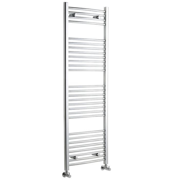 Radiador Toallero Curvo - Cromado - 1500mm x 500mm x 42mm - 554 Vatios - Ladder