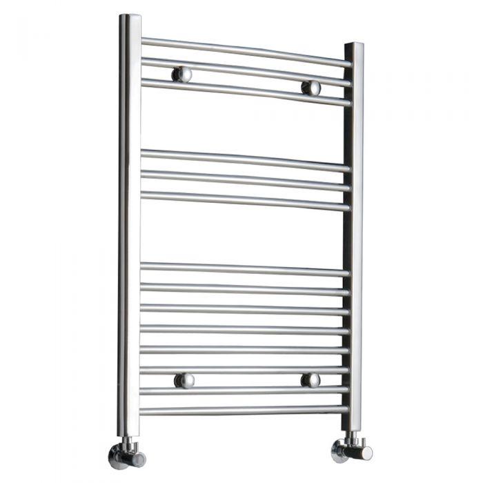 Radiador Toallero Curvo - Cromado - 800mm x 600mm x 46mm - 273 Vatios - Ladder