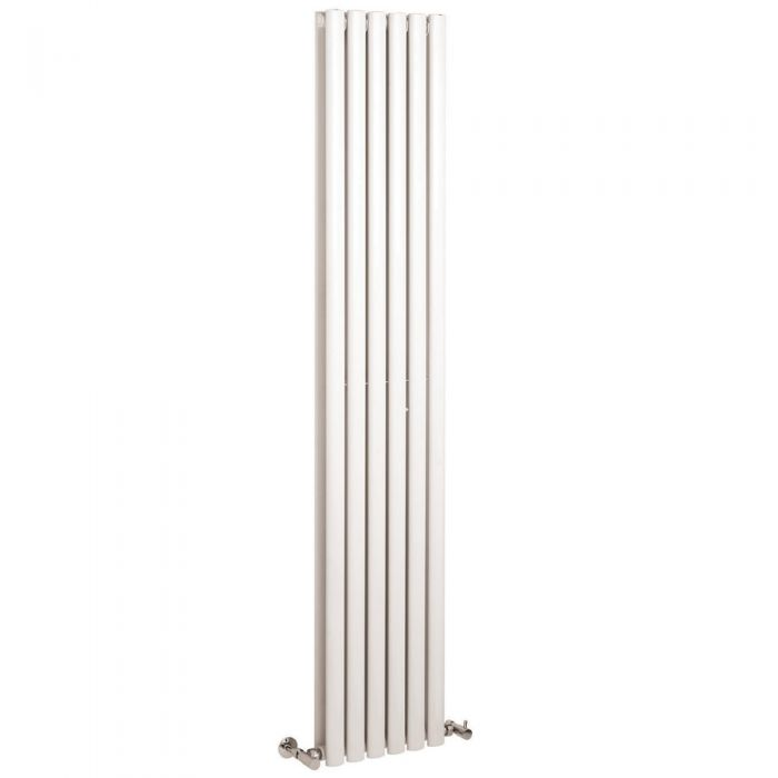 Radiador de Diseño Vertical Doble - Blanco - 1800mm x 354mm x 79mm - 1351 Vatios - Revive