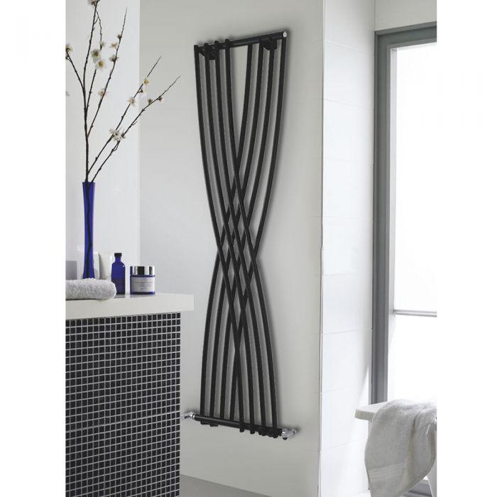 Radiador de Diseño Vertical - Negro - 1775mm x 450mm x 110mm - 925 Vatios - Xcite