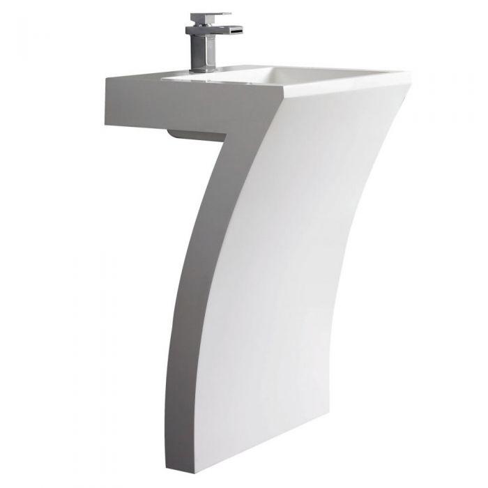 Lavabo Columna Número 7 de Resina Blanca