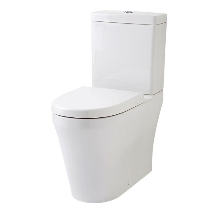 Conjunto de WC Completo con Inodoro Cisterna y Tapa WC con Salida Horizontal