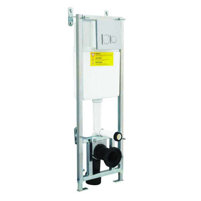 Estructura Empotrable WC con Cisterna y Placa de Descarga para Inodoros Suspendidos