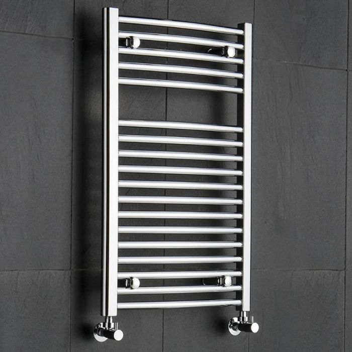 Radiador Toallero Curvo - Cromado - 800mm x 500mm x 48mm - 327 Vatios - Sterling
