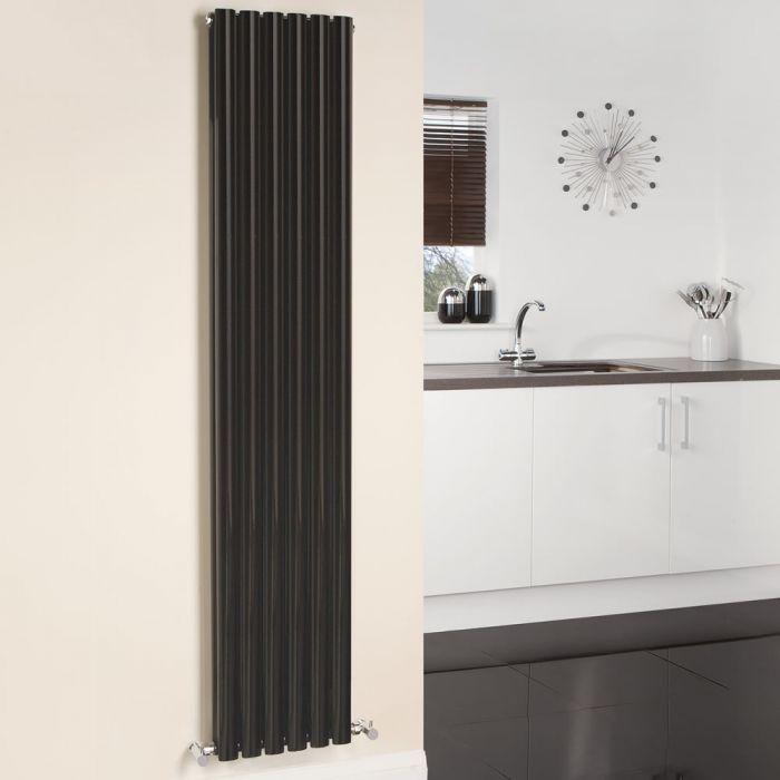 Radiador de Diseño Vertical Doble - Negro - 1780mm x 354mm x 78mm - 1401 Vatios - Revive