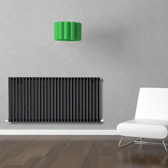 Radiador de Diseño Horizontal - Negro - 635mm x 1647mm x 56mm - 1671 Vatios - Revive