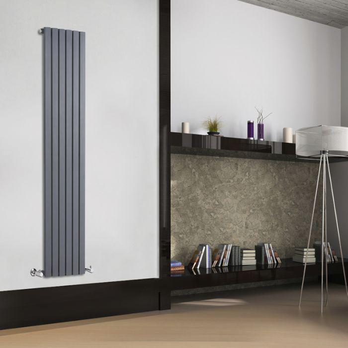Radiador de Diseño Vertical - Antracita - 1780mm x 354mm x 53mm - 896 Vatios - Sloane