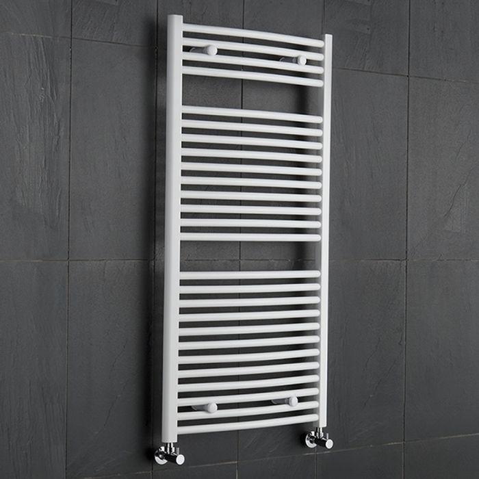 Radiador Toallero Curvo - Blanco - 1200mm x 600mm x 52mm - 888 Vatios - Sterling