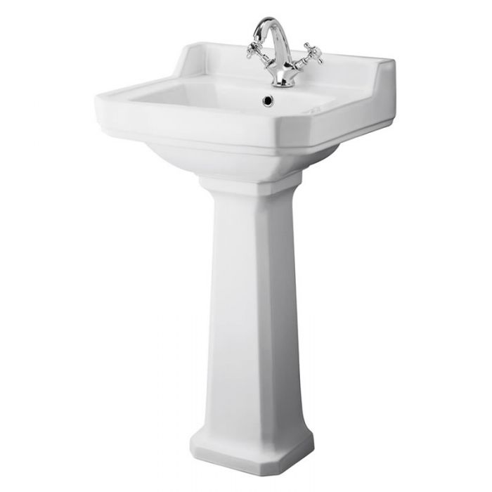Lavabo con Pedestal en Cerámica 500mm