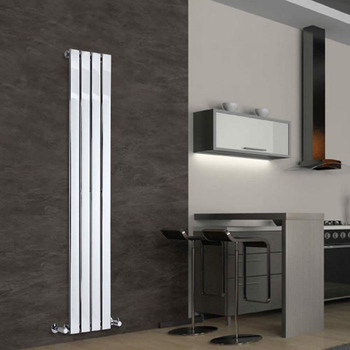 Radiador de Diseño Vertical - Cromado - 1600mm x 300mm x 50mm - 393 Vatios - Delta