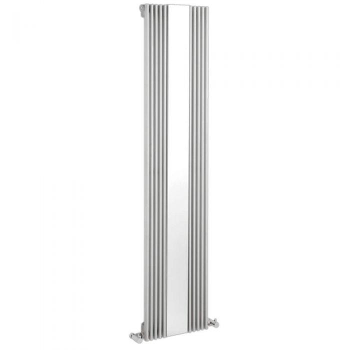 Radiador de Diseño Vertical Con Espejo - Blanco - 1600mm x 420mm x 63mm - 840 Vatios - Keida