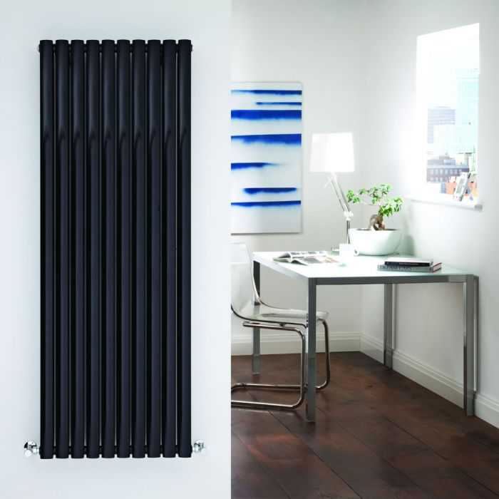 Radiador de Diseño Vertical Doble - Negro - 1600mm x 590mm x 78mm - 2273 Vatios - Revive