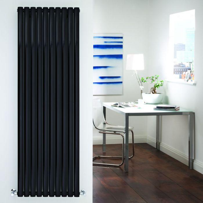 Radiador de Diseño Vertical Doble - Negro - 1780mm x 590mm x 78mm - 2335 Vatios - Revive
