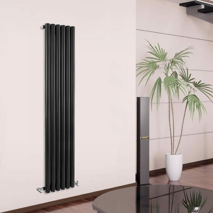 Radiador de Diseño Vertical - Negro - 1600mm x 354mm x 82mm - 959 Vatios - Savy