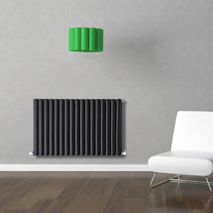 Radiador de Diseño Horizontal Doble - Negro - 635mm x 1000mm x 78mm - 1583 Vatios - Revive