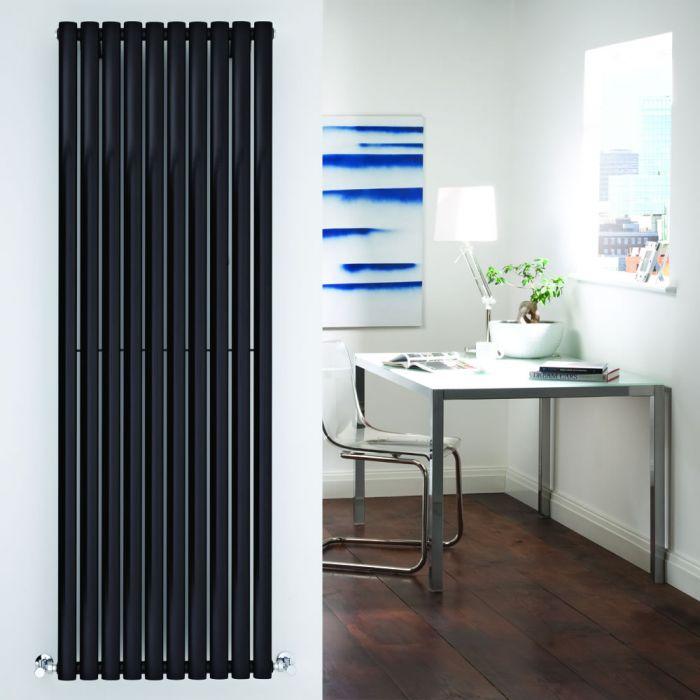 Radiador de Diseño Vertical - Negro - 1780mm x 590mm x 55mm - 1487 Vatios - Revive