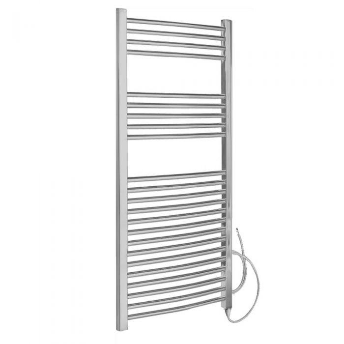 Radiador Toallero Eléctrico Curvo - Cromado - 1200mm x 600mm x 46mm - Ladder
