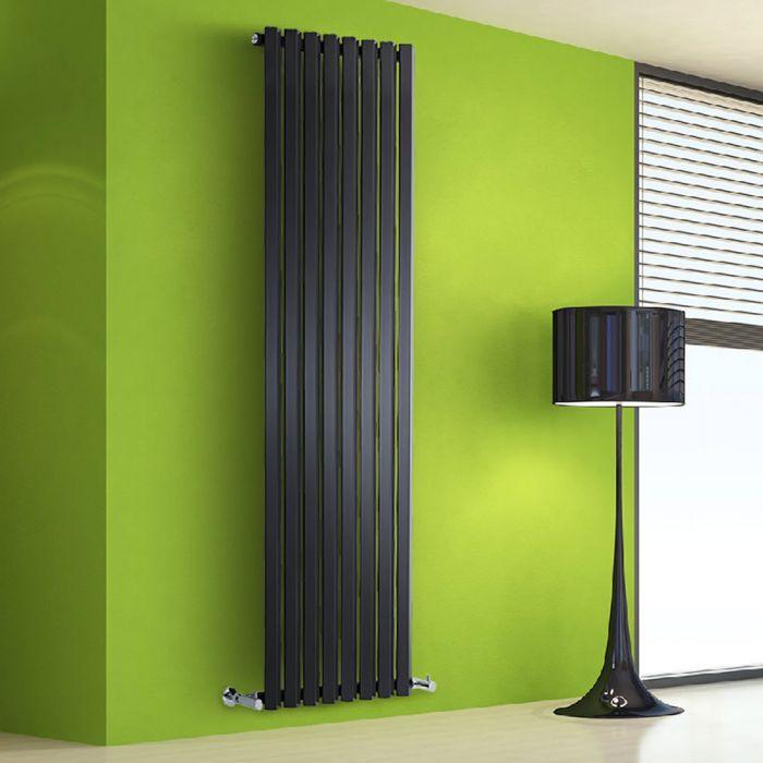 Radiador de Diseño Vertical - Negro - 1780mm x 560mm x 60mm - 1401 Vatios - Rombo