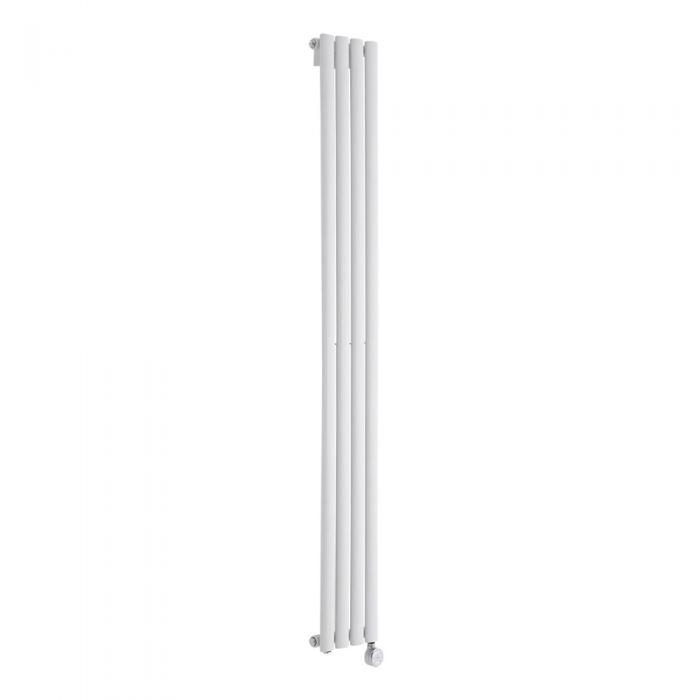 Radiador de Diseño Eléctrico Vertical - Blanco - 1780mm x 236mm x 56mm - Revive