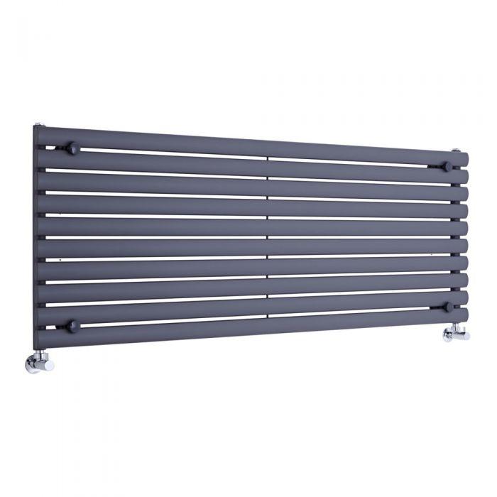 Radiador de Diseño Horizontal - Antracita - 590mm x 1600mm x 55mm - 1298 Vatios - Revive