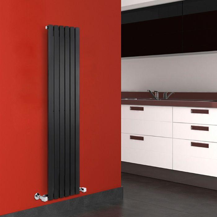 Radiador de Diseño Vertical - Negro - 1600mm x 354mm x 54mm - 861 Vatios - Sloane