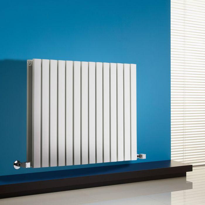 Radiador de Diseño Horizontal Doble - Blanco - 635mm x 834mm x 71mm - 1306 Vatios - Sloane